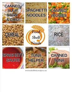 food shelf needs