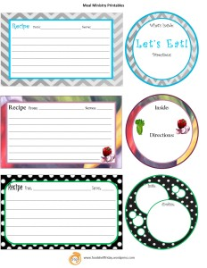 printables for meal ministry