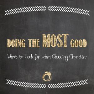 Choosing Charities
